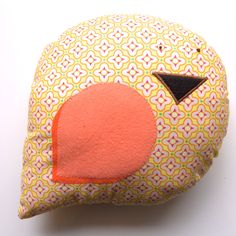 GFA Etsy Shop! Embroidered Bird Pillow Plush with Heather Bailey Fabric- 100% goes to Nonprofit. $10.00, via Etsy.