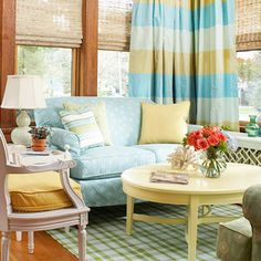 yet again, a nice cozy spot for a lazy afternoon nap, or read a good book. Can't have too many of those! The sunroom reminds me of my grandmother's Florida room, letting in natural light and providing a niche for a person to get lost from the bustle of the family spaces.