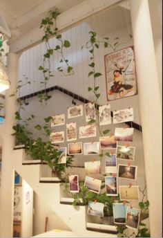 Hanging postcard display