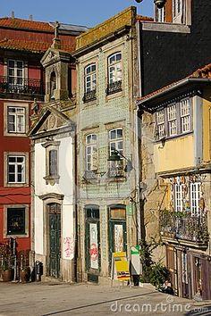 Colorful corner in the old town. Porto.Portugal by Daniel M. Cisilino