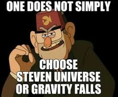 I'm kinda tied between the two, but Gravity Falls will always be my favorite