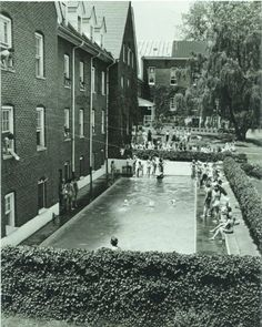 The old pool outside Clewell Hall (now Clewell patio).