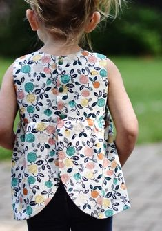 Handmade Organic Floral Baby Toddler Blouse | KinderSprouts on Etsy