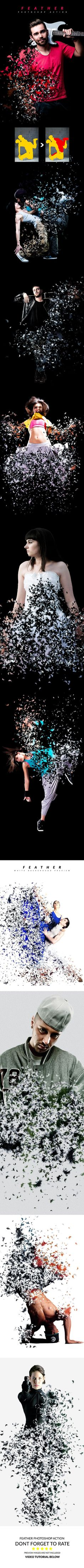 Feather Photoshop Action - Photo Effects Actions