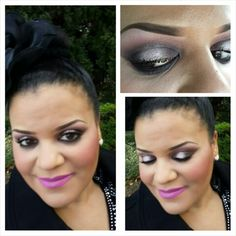 A touch of Sparkle inside plum smokey...