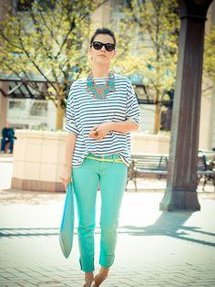 Mint & Stripes (by Veronica  P) http://lookbook.nu/look/3421543-Mint-Stripes