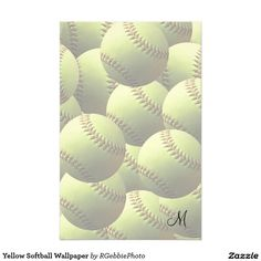 Yellow Softball Wallpaper Customized Stationery - $1.05 - Yellow Softball Wallpaper Customized Stationery - by ‪#‎RGebbiePhoto‬ @ zazzle - ‪#‎softball‬ ‪#‎sports‬ ‪#‎game‬ - Multiple layers of softballs! A yellow softball isolated. Fastpitch softball league ball with natural shading.