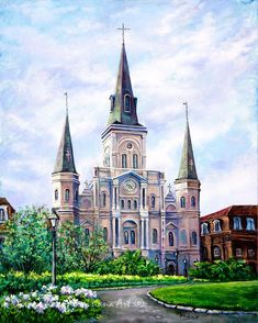 St Louis Cathedral at Jackson Square, French Quarter Art, New Orleans Canvas or Print, New Orleans Art by New Orleans Artist, Dianne Parks