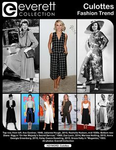 """Top row, from left: Ava Gardner, 1948; Julianne Hough, 2015; Rochelle Hudson, mid-1930s. Bottom row: Diana  Rigg in """"On Her Majesty's Secret Service,"""" 1969; Zoe Levin, 2014; Marissa Neitling, 2015; Annie Georgia Greenberg, 2015; Kaley Cuoco-Sweeting, 2015; Grace Kelly in """"Mogambo,""""1953."""