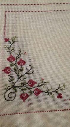 The most beautiful cross-stitch pattern - Knitting, Crochet Love Cross Stitch Beginner, Cross Stitch Art, Cross Stitch Borders, Cross Stitch Flowers, Cross Stitch Designs, Cross Stitching, Cross Stitch Embroidery, Embroidery Patterns, Hand Embroidery