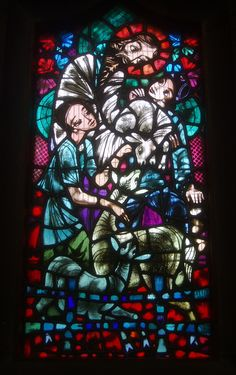 https://flic.kr/p/fpKL9H | The Good Shepherd | Detail of Ervin Bossanyi's south aisle window dating from 1949, depicting the Sower, the Good Shepherd and the Good Samaritan.  The magnificent Christ Church in Port Sunlight was opened in 1904 and the gift of William Hesketh Lever (later 1st Viscount Leverhulme), the founder of Port Sunlight Village, who with his wife is buried in a fine tomb, railed off and covered by an exquisite vaulted narthex at the west end of the church.   The church…