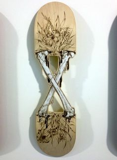 Skateboard deck by Onekon7 for the Odyssée Tour at fondation...