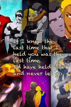 The Wall-man was supposed to live forever Artemis Young Justice, Young Justice League, Young Justice Couples, Wally West And Artemis, Spitfire Young Justice, Artemis Crock, Kid Flash, Batman, Dc Movies