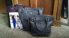 Comparison of Fashion Editor, Daring Abbey, and Paris. Jewell by Thirty One New Premium. Faux leather purses & totes Spring 2015