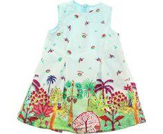 Oilily Baby Girls Blue 'Djungle' Print Dress