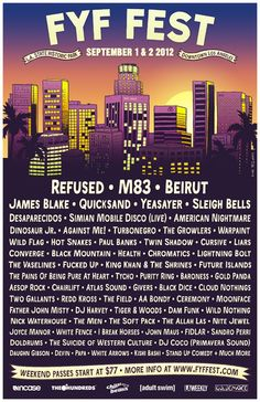 FYF '12 Line Up Poster