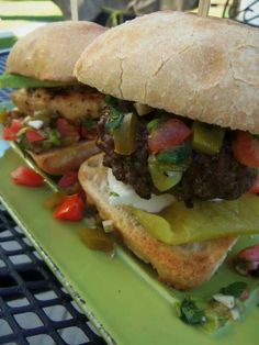 Grilled chicken and beef sliders
