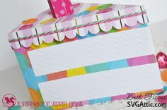 Beth's Beauties: Cake slice box using Raspberry Cupcake and Twisted Lime #trendytwine #dcwv #svgattic #svg