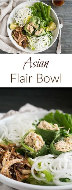 Think I just found tomorrow's lunch! This healthy flair bowl is packed with asian flavors and all the umami the sea has to offer.