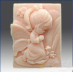 Prayer Girl Angel Soap Mold Mould Silicone Mold Flexible Mold Cake Mold. $8.99, via Etsy.