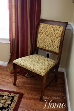 new house to home how i recovered my dining room chairs - How To Recover Dining Room Chairs