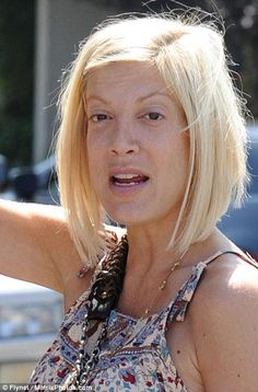 Tori Spelling without makeup