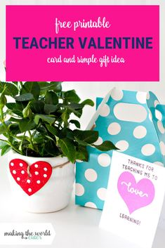 Valentine Card for Teachers free printable and cute and easy gift idea Teacher Valentine Cards, Cute Valentines Card, Teacher Cards, Teacher Gifts, Back To School Gifts For Teachers, Preschool Gifts, Candy Cards, Diy Gifts For Boyfriend, Easy Gifts