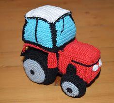 "Máma ,,Na dovolené"" Crochet Hats, Fictional Characters, Free Pattern, Crocheting, Xmas, Tractor, Knitting Hats, Fantasy Characters"