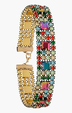 Love this sparkly multicolored rhinestone choker!