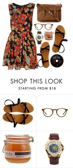 """""""Untitled #144"""" by purite ❤ liked on Polyvore featuring Topshop, Oliver Peoples, FREDS at Barneys New York and Patek Philippe"""