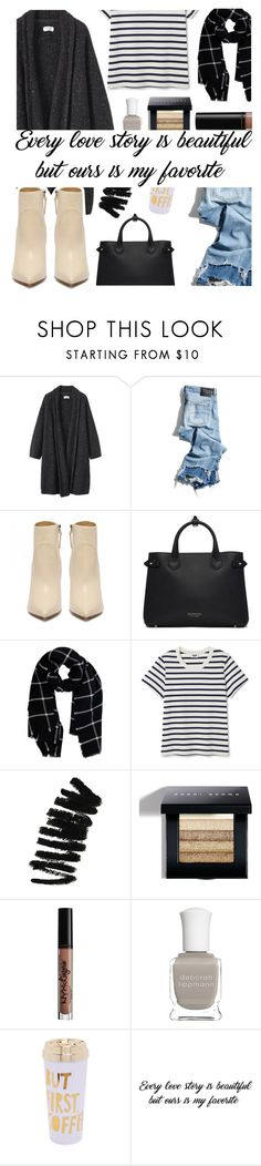 """Our Love Is Like No Other!"" by fashion4life2100 ❤ liked on Polyvore featuring Toast, R13, Burberry, Warehouse, Bobbi Brown Cosmetics, NYX, Deborah Lippmann and ban.do"