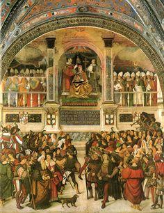 Pinturicchio (1452 ca.-1513) - Incoronazione di Pio III - affresco - 1502-1507 - Siena, Duomo, entrata Libreria Piccolomini