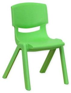 Flash Furniture Preschool Stack Chair in Green #Schoolsupplies #kindergarten #ad