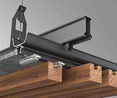 Timber Click-on Battens Tech Info – Sculptform – Ceiling Wood Cladding, Timber Slats, Tv Wall Design, Ceiling Design, Wood Slat Ceiling, Japanese Joinery, Room Partition Designs, Wooden Facade, Timber Buildings