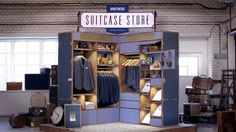 """Suitcase Store is project by Pool agency for Swedish clothing brand """"Brothers"""", showing off their wonderful creativity and branding. #Merchandising #Europe #Display"""