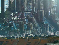 "rhubarbes: ""ArtStation - Blue city, by Paul Chadeisson "" Cyberpunk City, Futuristic City, Futuristic Architecture, Architecture Art, Fantasy City, Sci Fi Fantasy, Syd Mead, Arte Sci Fi, Sci Fi City"