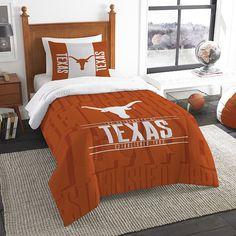 Texas Longhorns Modern Take Twin Comforter Set by Northwest, Multicolor