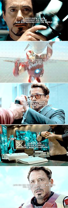 Tony Stark: Oh, how he tries.  And ends up saving the world, more than once.