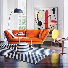 Orange is the new black inspired interirors