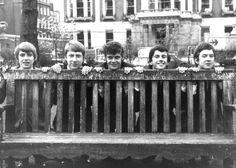 Rock band 'The Yardbirds' pose for a portrait in 1964 in England Keith Relf Chris Dreja Paul SamwellSmith Jim McCarty Eric Clapton