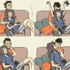 Yes! #gaming #love #gamer me and my girl :)
