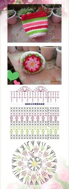 New Crochet Stitches Diagram Charts Ganchillo 37 Ideas Mode Crochet, Crochet Diy, Crochet Motifs, Crochet World, Crochet Diagram, Crochet Chart, Crochet Home, Crochet Gifts, Crochet Stitches