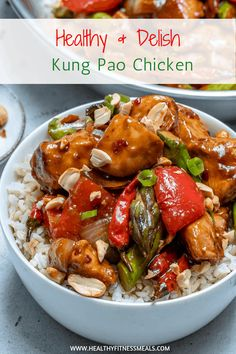 This Kung Pao Chicken recipe is made healthier so you can now enjoy your favorite Chinese takeout right at home. Stir-fried chicken breast with the perfect combination of salty, spicy and sweet Kung Pao Sauce recipe. Chicken Recipes, Asian Recipes, Healthy Recipes, Ethnic Recipes, Chinese Chicken Stir Fry, Cooking For Dummies, Healthy Eating, Healthy Food