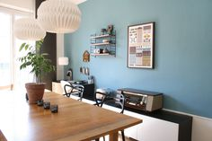 Danish style - I like the wall colour