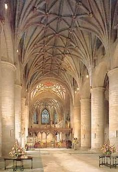 Tewkesbury Abbey, the Church of St. Mary the Virgin in Tewkesbury, a large…