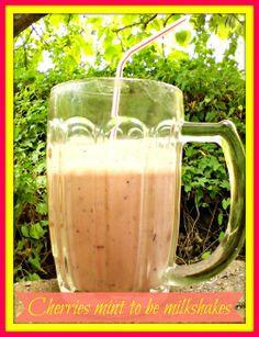 Cherries mint to be milkshakes - Anna Can Do It!  #cherry #mint #milkshake #recipe #drink #refresh #DIY #smoothie #fruit #healthy