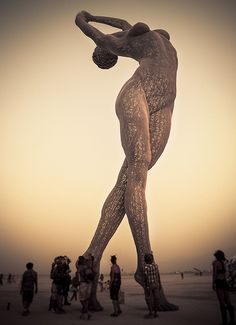 Burning Man is a temporary community that is based on self reliance and self- expression. Thousands of strangers come together to experience the burning of a large wooden sculpture.