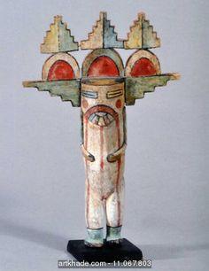 Poupée Kachina Hopi de Shalako Mana, Arizona, USA