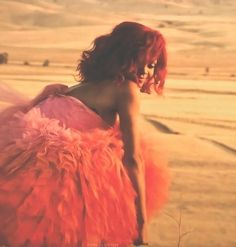 loud, music video, only girl, red hair, rihanna