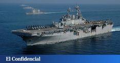 Los LHD son unos de los buques de guerra más temidos. Su capacidad armamentística y todo el material que llevan en su interior les permite mantener una batalla de forma independiente Armada Española, Portaaviones, Marinero Militar, Lancha De Desembarco, Vehículo Anfibio, Escolta, Vehículos Blindados, Escuadron, Infanteria